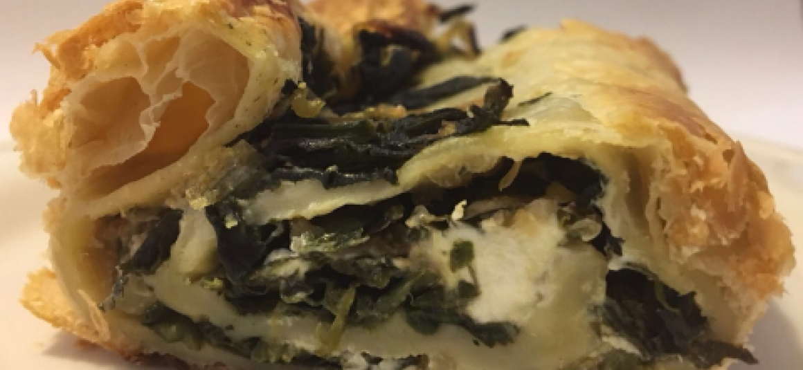 Spinach and goats cheese pastry