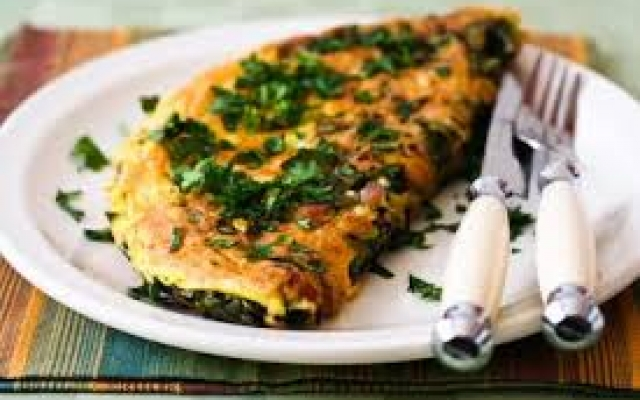 Omelette with Kale
