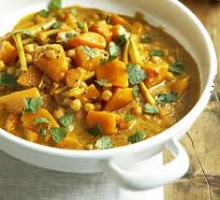 Pumpkin, chickpea and coconut curry